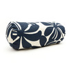 Majestic Home Goods Navy Blue Plantation Floral Bolster Outdoor Decorative Pillow