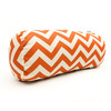 Majestic Home Goods Burnt Orange Chevron Bolster Outdoor Decorative Pillow