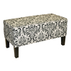 Skyline Furniture Diversey Black/White Accent Bench