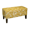 Skyline Furniture Diversey Maize Indoor Accent Bench with Storage