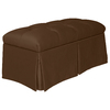 Skyline Furniture Quincy Chocolate Accent Bench