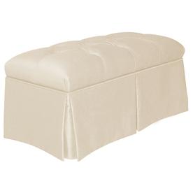 Skyline Furniture Quincy Parchment Indoor Accent Bench