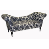 Skyline Furniture Monroe Collection Black/White Cotton Chaise