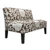 Skyline Furniture Clark Collection Chocolate Settee