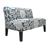 Skyline Furniture Clark Collection Smoke Cotton Settee