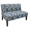 Skyline Furniture Clark Collection Ink Cotton Settee