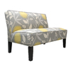 Skyline Furniture Clark Collection Dove Cotton Settee