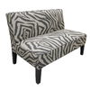 Skyline Furniture Clark Collection Flax Steel Cotton Settee