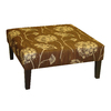 Skyline Furniture Fullerton Chocolate Square Ottoman