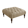 Skyline Furniture Southport Collection Sandstone Square Ottoman