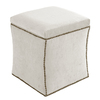 Skyline Furniture Armitage Collection White Square Storage Ottoman