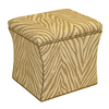 Skyline Furniture Armitage Collection Camel Square Storage Ottoman