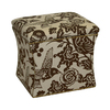 Skyline Furniture Armitage Collection Earth Square Storage Ottoman