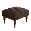 Skyline Furniture Southport Collection Chocolate Rectangle Ottoman