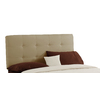 Skyline Furniture Sheridan Saddle Queen Microsuede Upholstered Headboard