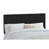 Skyline Furniture Wellington Black Queen Microsuede Upholstered Headboard