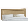 Skyline Furniture Wellington Saddle King Microsuede Upholstered Headboard