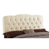 Skyline Furniture Quincy Collection Parchment Queen Textured Cotton Headboard