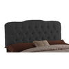 Skyline Furniture Quincy Black Queen Textured Cotton Upholstered Headboard