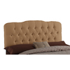 Skyline Furniture Quincy Khaki Queen Textured Cotton Upholstered Headboard