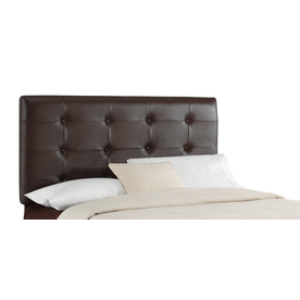 Skyline Furniture Jackson Brown King Leather Upholstered Headboard