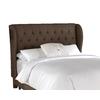 Skyline Furniture Southport Chocolate Queen Linen Headboard