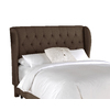 Skyline Furniture Southport Collection Chocolate King Linen Headboard