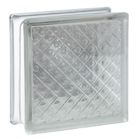 Shop redi2set 10 pack glass blocks common 8 in h x 8 in for Glass blocks for crafts lowes