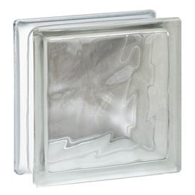 REDI2SET Glass Block (Common: 8-in H x 8-in W x 3-in D; Actual: 7.75-in H x 7.75-in W x 3.12-in D)