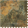 Perfection Floor Tile 20-1/2-in W x 20-1/2-in L Imperial Gold Slate Garage Flooring Tile