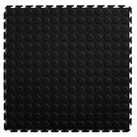 Blue Hawk Blue Hawk 20.5-in x 20.5-in Black Loose Lay Coin PVC Plastic Tile