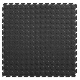 Blue Hawk Blue Hawk 20.5-in x 20.5-in Dark Gray Loose Lay Coin PVC Plastic Tile