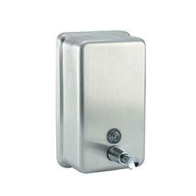 PSISC Satin Push-Up Valve Commercial Soap Dispenser