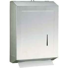 PSISC Satin C-Fold Pull Paper Towel Dispenser