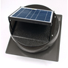 U.S. Sunlight 900-CFM Black Galvanized Steel Solar Power Roof Vent