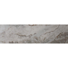 Style Selections 3-in x 13-in Lisano White Marbelized Glazed Porcelain Bullnose Tile