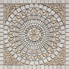 Style Selections Medallions Multi-Colored Natural Stone Mosaic Indoor/Outdoor Floor Tile (Common: 36-in x 36-in; Actual: 36-in x 36-in)
