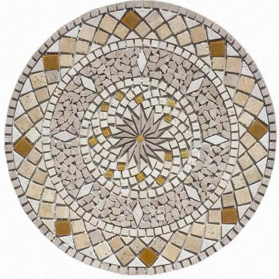 Shop Floors 2000 Medallions Multi Colored Natural Stone
