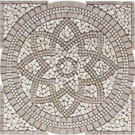 FLOORS 2000 Medallions Multi Colored Mosaic Natural Stone Floor Tile (Common: 36-in x 36-in; Actual: 36-in x 36-in)