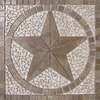 FLOORS 2000 36-in x 36-in Medallion Multicolored Natural Stone Mosaic Floor Tile