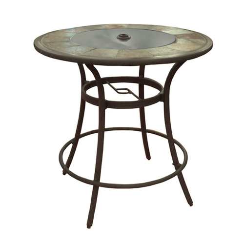Allen Roth Safford Swivel Patio Bar Chairs Amp Round Table
