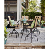 allen + roth Safford Brown Aluminum Barstool Chair