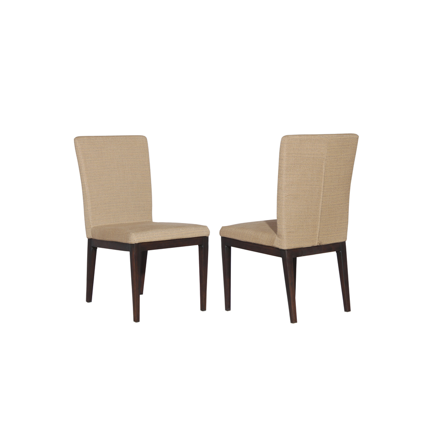 Shop Allen Roth Set Of 2 Dellinger Brown Cushioned Seat Aluminum Patio Dining Chairs At