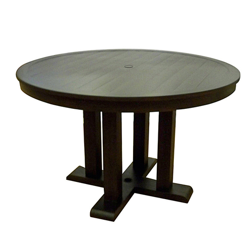 aluminum dellinger round rectangular patio table from lowes dining