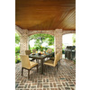 allen + roth Dellinger Brown Rectangle Patio Dining Table