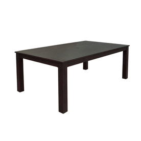 allen + roth Dellinger 41.75-in x 72-in Aluminum Rectangle Patio Dining Table