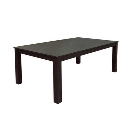 "Zoomed: allen + roth Dellinger 41-3/4"" x 72"" Cast Aluminum Rectangle Patio Dining Table"
