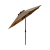 allen + roth 9-ft Brown Round Market Umbrella