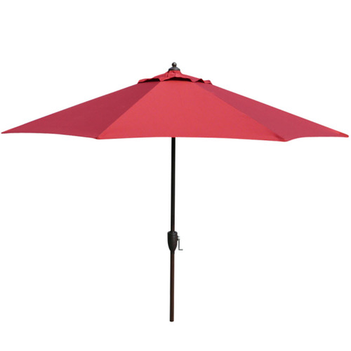 cheap garden treasures red stripe patio market umbrella
