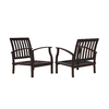 allen + roth Set of 2 Gatewood Brown Aluminum Slat Seat Patio Chairs
